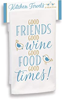 """product image for Imagine Design Friends, Wine, Food, Good Times Towel, 18"""" x 28"""", Multi"""