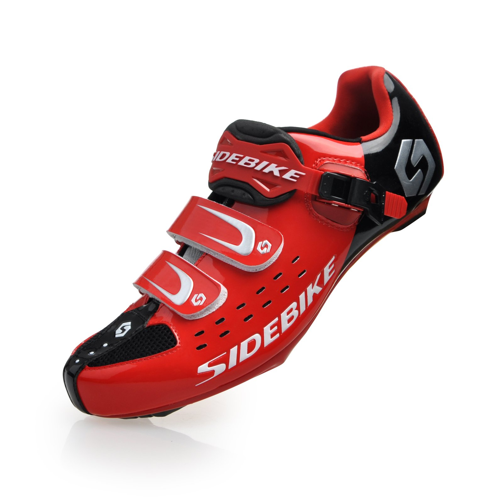 Smartodoors Men's Women's All Road Cycling Shoes Racing Cycling Shoes (Red for Road, US10)
