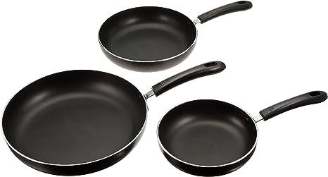 Amazon Com Concord Set Of 3 Non Stick Aluminum Fry Pans Kitchen Dining
