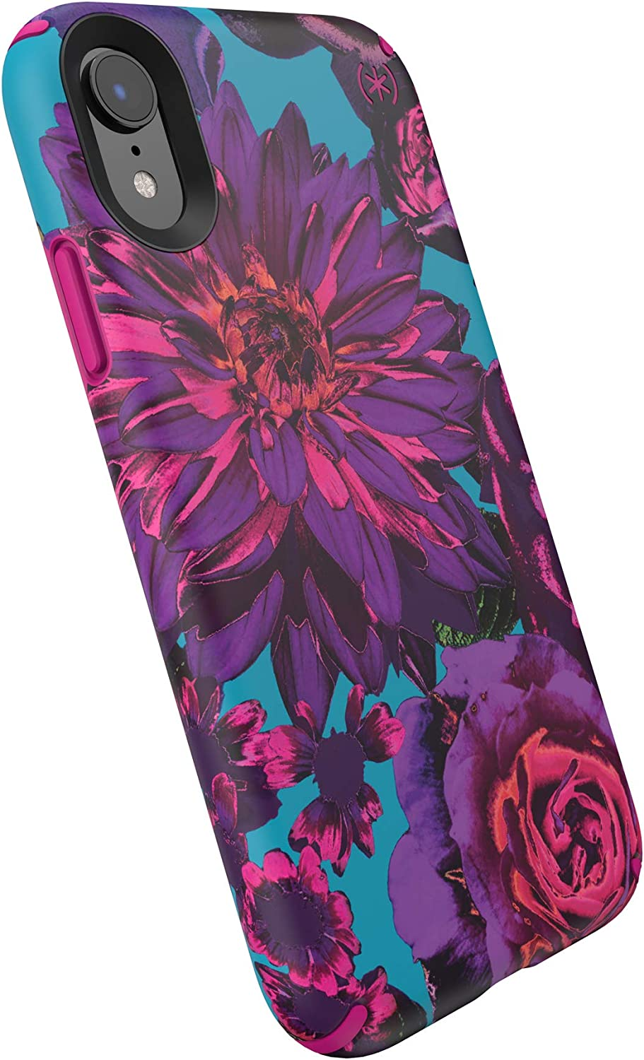Speck Products 132093-8736 Presidio Inked iPhone XR Case, Hyperbloom/Lipstick Pink