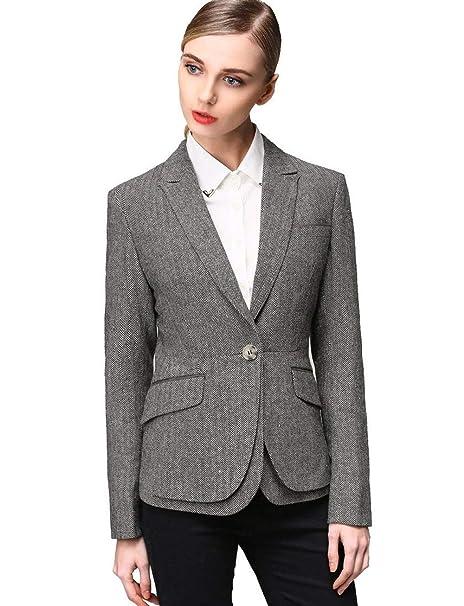 Chaqueta De Traje Mujer Otoño Negocios Camisa Slim Basic Fit ...
