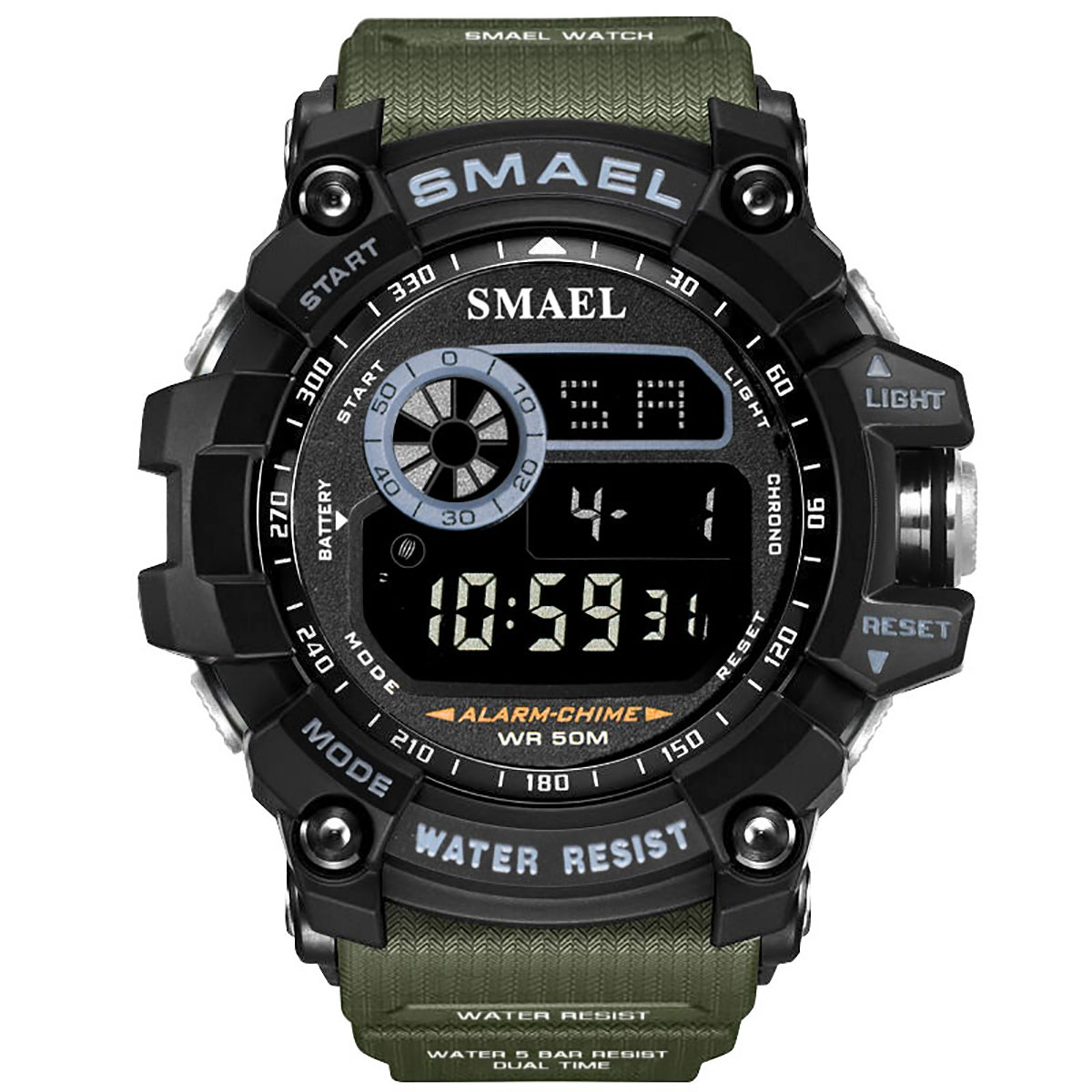 Watch VOEONS Digital Watch, 165FT Waterproof Military Running Sports Watch for Men & Boys, Outdoor Work Wrist Watch - Alarm, Stopwatch, Back Light - Army Green