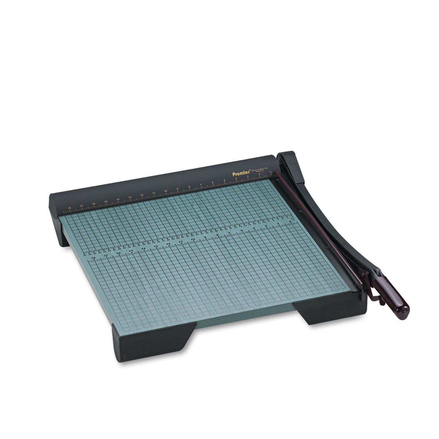 Premier W18 The Original Green Paper Trimmer, 20 Sheets, Wood Base, 19 1/8 x 21 1/8 19 1/8 x 21 1/8 MARTIN YALE INDUSTRIES INC