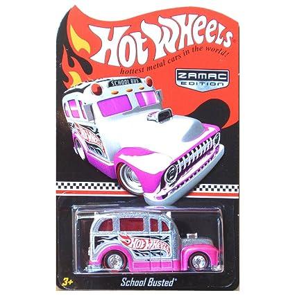 Amazoncom Hot Wheels School Busted School Bus Zamac Pink Walmart