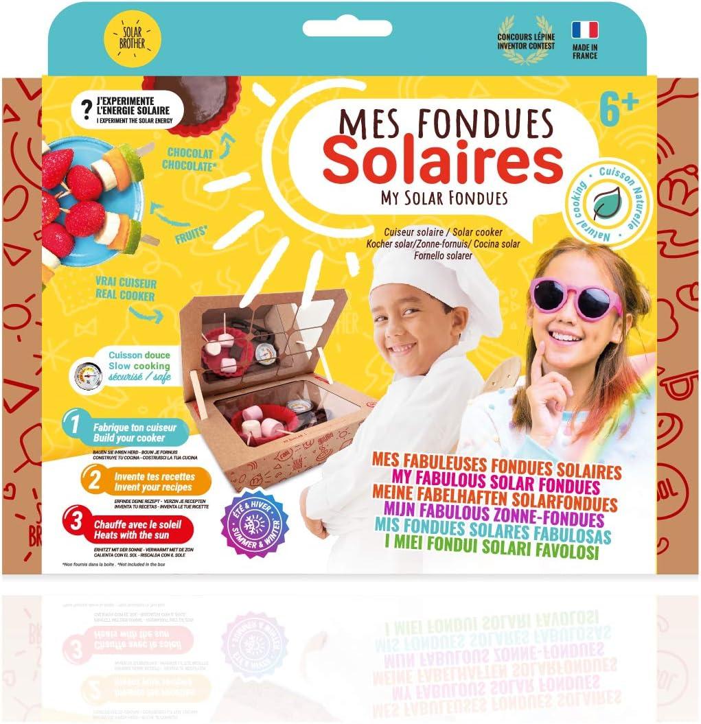 SOLAR BROTHER - Sunlab - Laboratorio de Cocina Solar para niños - Horno Solar Seguro + Utensilios de Cocina - Cocina Solar de 40°C a 80°C - Divertido, ...