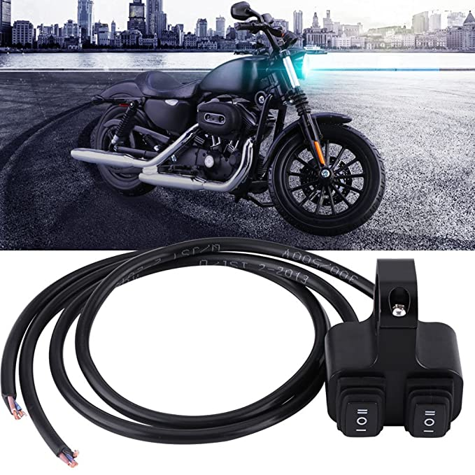 Motorrad Lenkerschalter Schalter Steuerung 7//8 inch 3 Way On//Off Doppelscheinwerfer Scheinwerfer Control Button