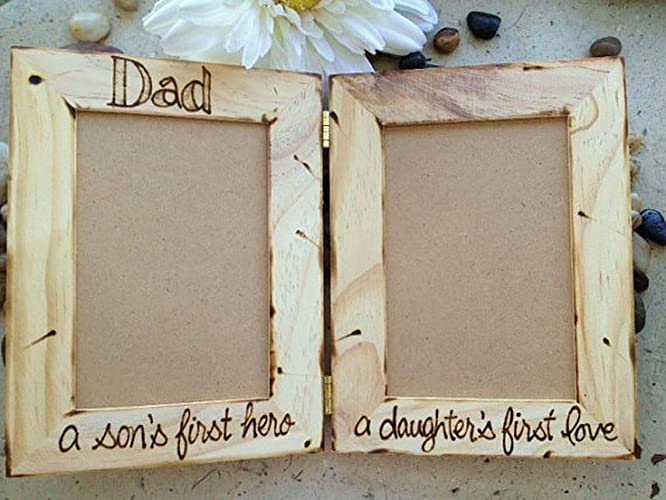 Amazon.com: Double Picture Frame for Dad from Son and Daughter: Handmade