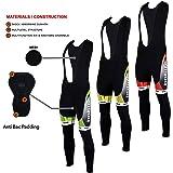 Didoo New Mens Cycling Bib Tights Winter Thermal Padded Long Pant Biking Trouser - Yellow - Red - Green
