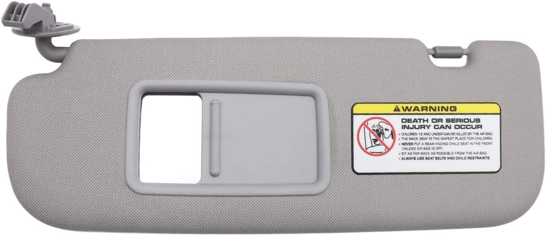 852103X000TX Grey SAILEAD Left Driver Side Sun Visor for Hyundai Elantra 2011 2012 2013 2014 Avante MD
