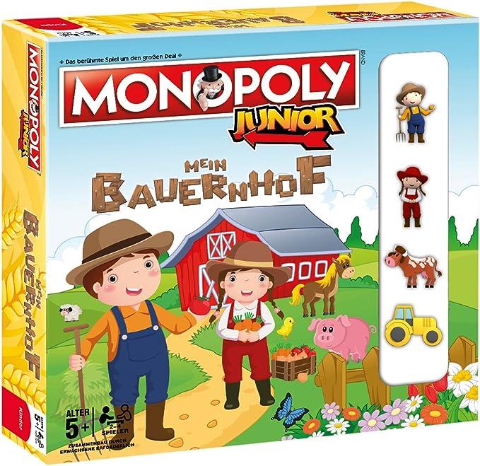 Winning Moves Monopoly Junior Mein Bauernhof Niños Simulación económica - Juego de Tablero (Simulación económica, Niños, Niño/niña, 5 año(s), Alemán, Alemán): Amazon.es: Juguetes y juegos