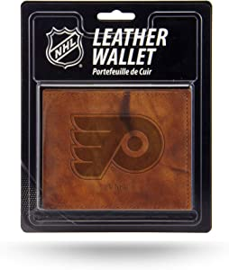Rico NHL Philadelphia Flyers Embossed Leather Billfold Wallet with Man Made Interior