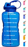 Venture Pal Large 1 Gallon/128 OZ (When Full) Motivational BPA Free Leakproof Water Bottle with Straw & Time Marker…