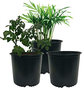 kathson Plastic Nursery Pots, 1 Gallon Flower Pots Plant Container Ideal for Indoor Outdoor Plants, Seedlings, Vegetables, Succulents and Cuttings 20 Pack