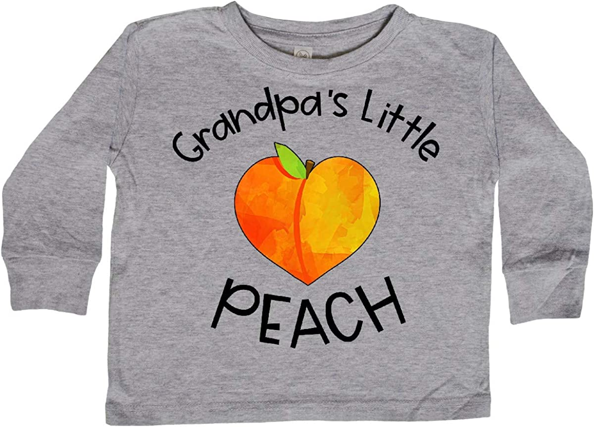 inktastic Grandpas Little Peach Cute Peach Heart Toddler Long Sleeve T-Shirt