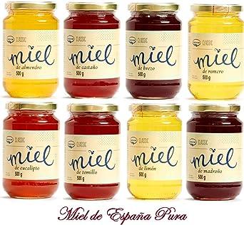 Miel de Montaña de España 500 grs - Miel Natural de abeja 100 % Pura 500 grs: Amazon.es: Alimentación y bebidas