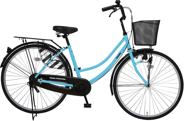 完全組立 VOLDY(ボルディ) 26インチ自転車ママチャリ VO-VM-266 シマノ製6段ギア付き B01N7LHDHA スカイブルー スカイブルー