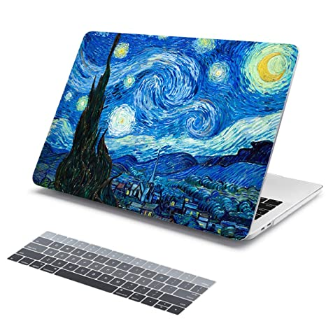 the best attitude 9e7ef d987f Batianda Painting Hard Shell with Silicone Keyboard Cover Case for MacBook  Air 11 inch Model:A1370/A1465 (Oil Painting)
