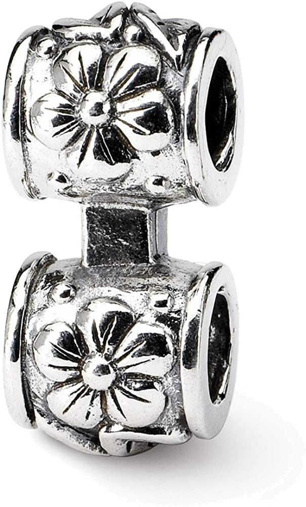 Jewelry Adviser Beads Sterling Silver Reflections Floral Connector Bead
