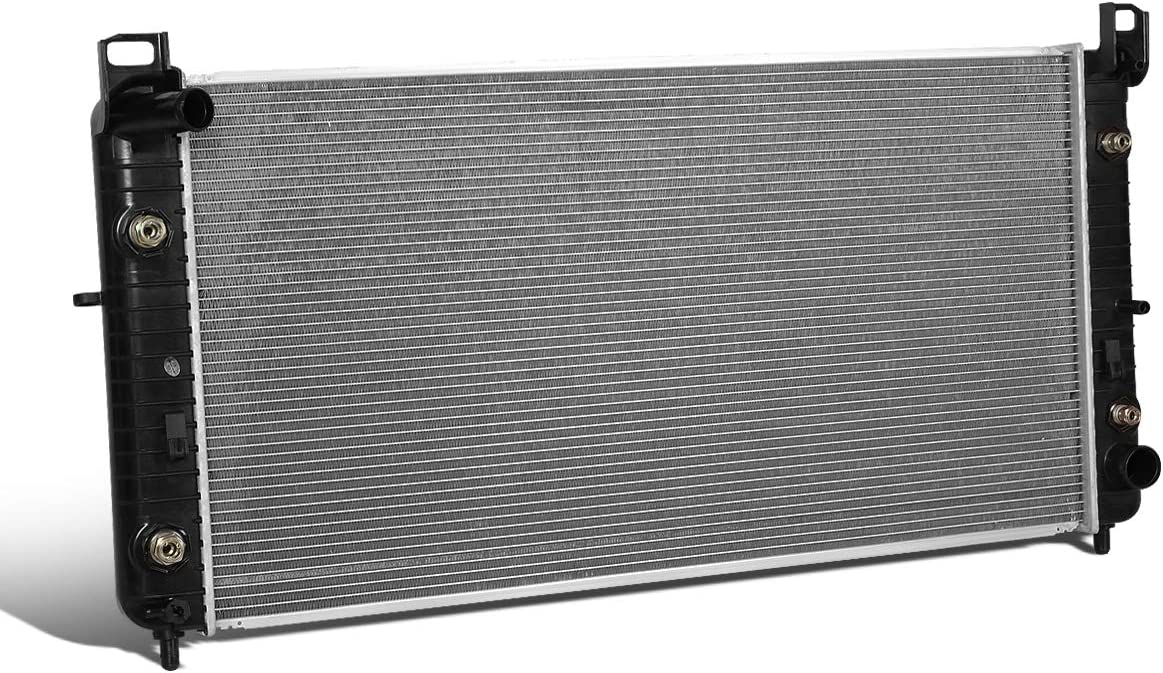 2537 OE Style Aluminum Core Cooling Radiator Replacement for Chevy Silverado Suburban Sierra Sierra 2500 3500 AT 01-02