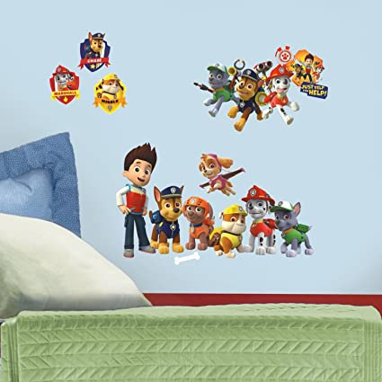 225 & RoomMates Paw Patrol Peel And Stick Wall Decals