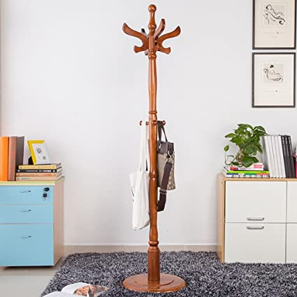 Coat rack-Q QFF Perchero Retro, Perchero de Madera Perchero ...