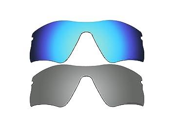 2 pares bvanq lentes polarizadas de recambio para Oakley Radar Range gafas de sol azul y