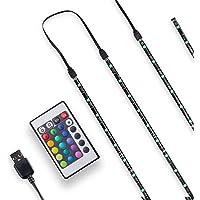 B.K.Licht 2m TV Tira LED USB con cubierta de silicona I RGB Flexibles Multicolor I Kit Completo con mando a distancia I…