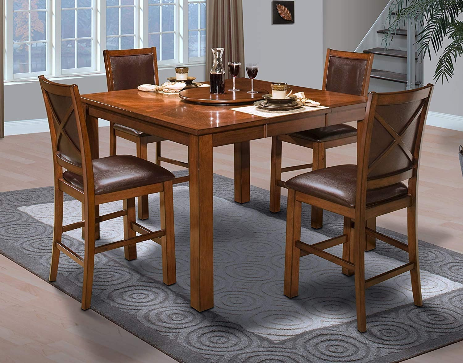 New Classic Furniture Aspen Counter Table Burnished Cherry
