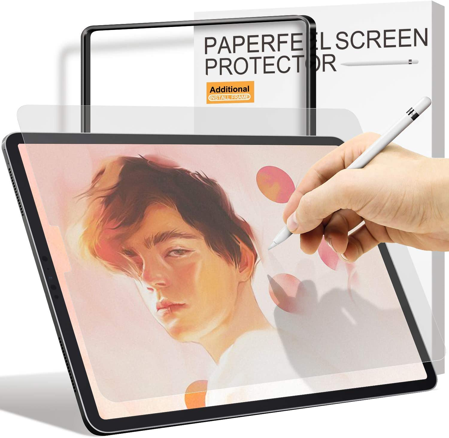 Paperfeel Screen Protector For iPad Air 4 2020 /iPad Pro 11 2020 & 2018, [Install Frame] ambison High Touch Sensitivity Paperfeel iPad Pro 11/10.9 inch Matte Screen Protector, Anti-Glare, Anti-Fingerprint, Apple Pencil Compatible