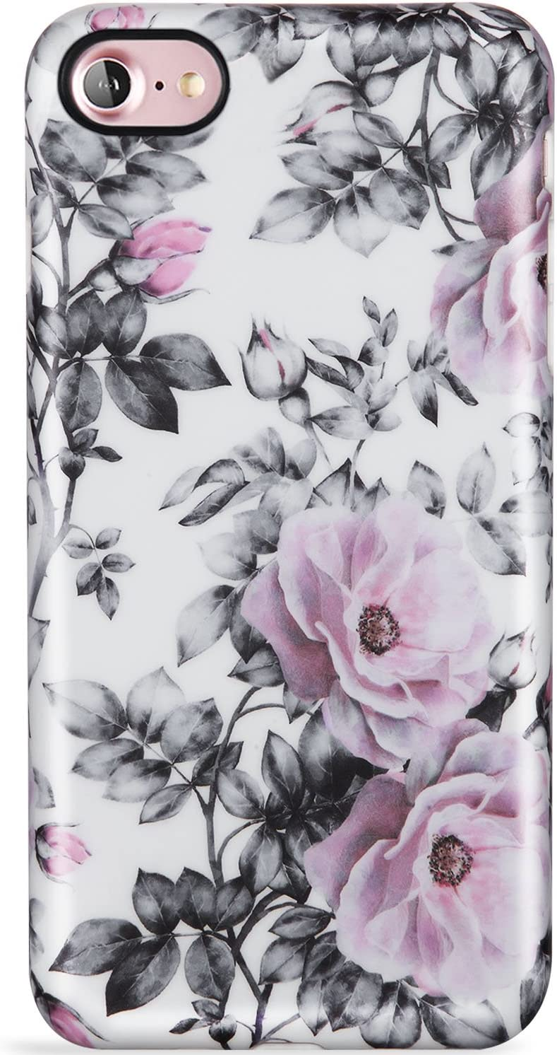 LUMARKE iPhone SE2 Case 2020,iPhone 7 Case,iPhone 8 Case,Cute Vintage Floral for Girls Women Slim Fit Soft TPU Protective Phone Case Cover for iPhone 7/iPhone 8/New iPhone SE2