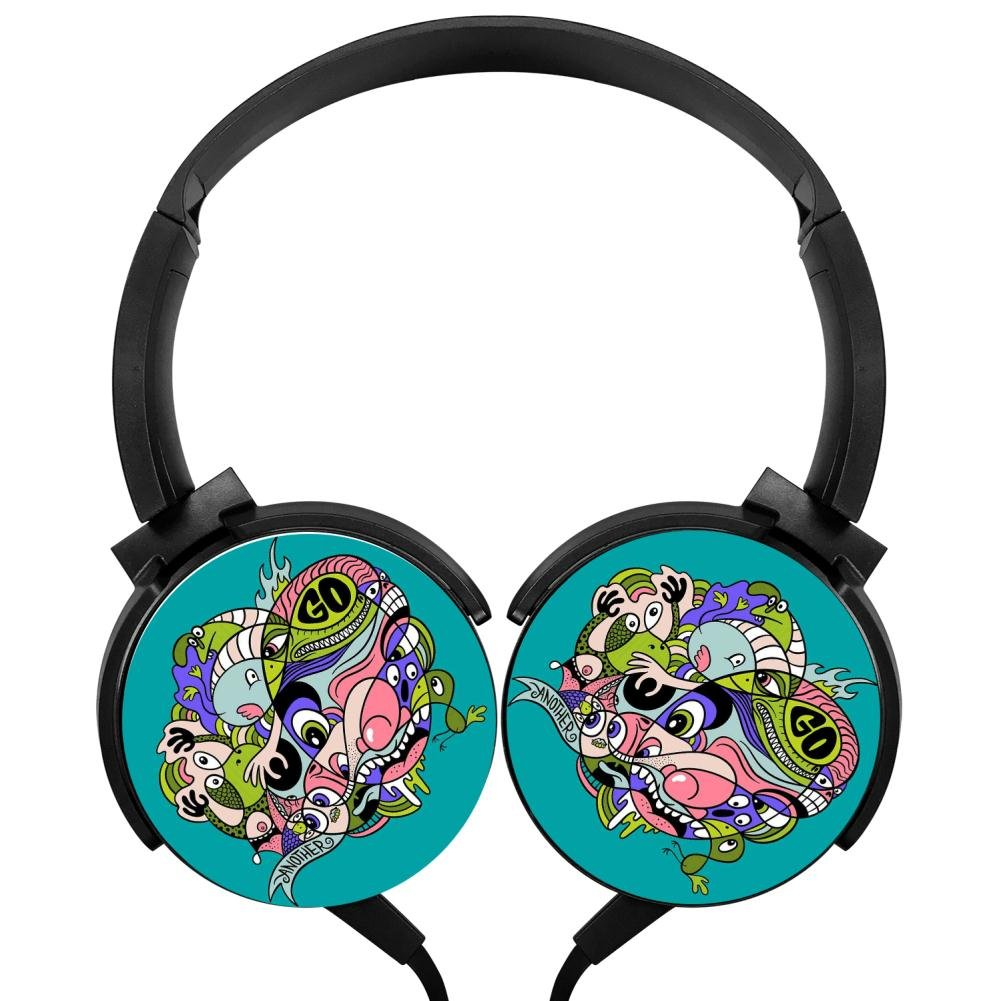 Amazon.com: MagicQ Dia de Los Gatos Skull Stereo Deep Bass Wired Headphones Earphones: Cell Phones & Accessories