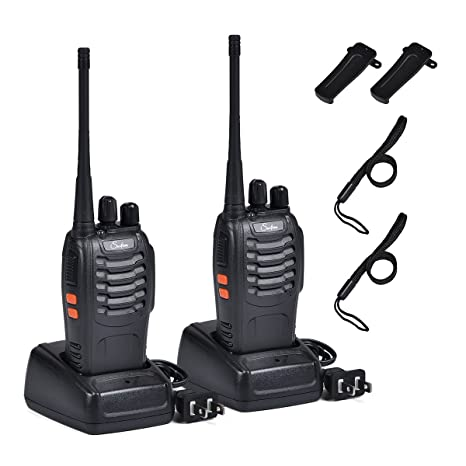 Rechargeable Kids Walkie Talkies Professional Interphone for Hunting for  Police BF-888S Two Way radios Long Range Rechargeable with Charger Earphone