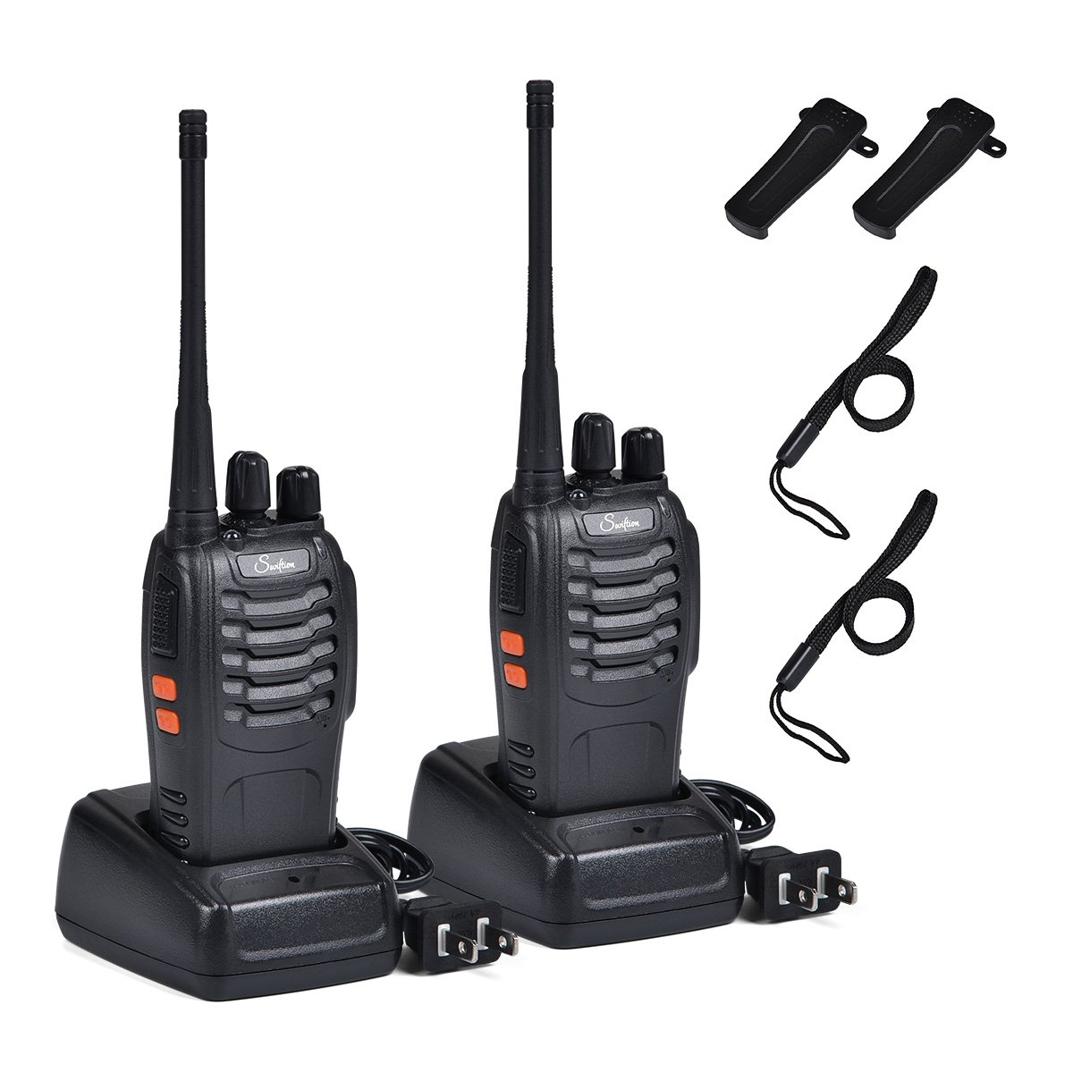 Rechargeable Kids Walkie Talkies Professional Interphone for Hunting for Police BF-888S two way radios Long range Rechargeable with Charger earphone (without Earpiece)