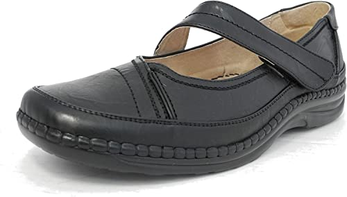 Womens Ladies X Wide EEE Fit Leather