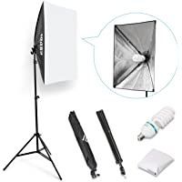 "ESDDI 20""X28"" Softbox Portable Photography Lighting Kit Photo Equipment Studio Light 20""X28"" for Portrait Video and Advertising Shooting"