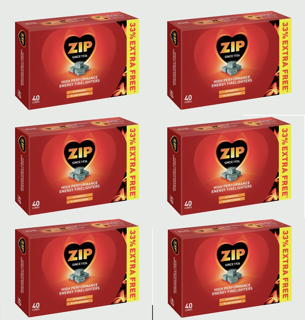 240 Zip High Performance Energy Firelighters Stove Wood burner Logs Fire Logs