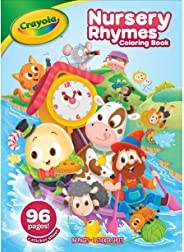 Crayola Nursery Rhymes Coloring Book with Stickers, 96 Coloring Pages, Gift for Kids, Ages 3, 4, 5, 6