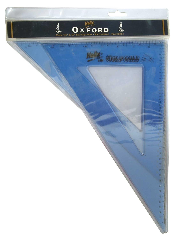 Helix Oxford 35cm 45//60Degree Set Square R37011