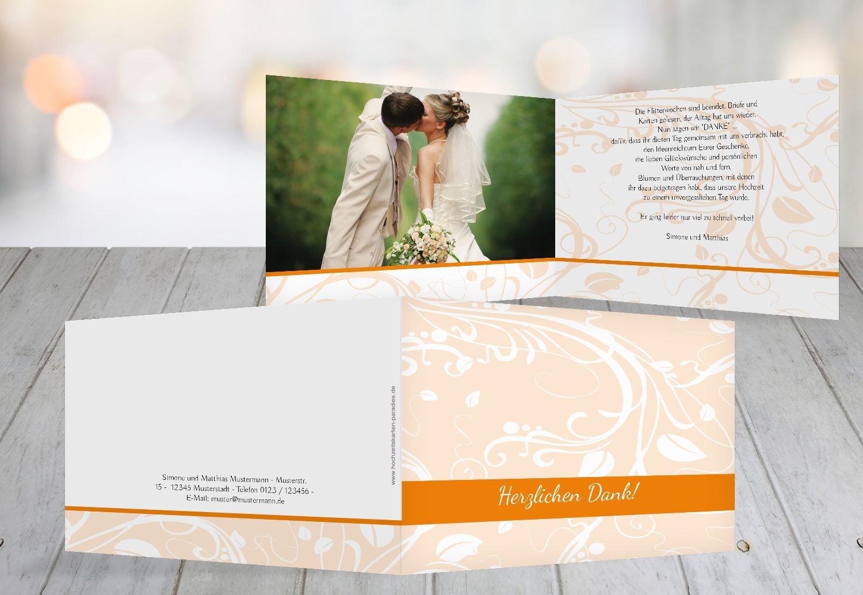 Kartenparadies Danksagung für Hochzeitsgeschenke Hochzeit Dankeskarte Blättertraum, hochwertige Danksagungskarte Hochzeitsglückwünsche inklusive Umschläge   10 Karten - (Format  148x105 mm) Farbe  WeinRot B01N4QK9O1   Eleganter St
