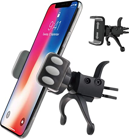 6 Note 9 Fits All Smartphones S8 iPhone 11 Pro XS Max Cell Phone Holder for Car Air Vents 7 5 8 11 X S9 Luxury Vent Phone Holder XR | 6//7//8 Plus 360/° Rotation Car Phone Mount
