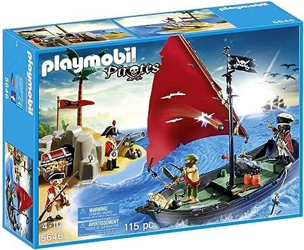 Playmobil Piratas 5646- Isla y Barco: Amazon.es: Juguetes y juegos