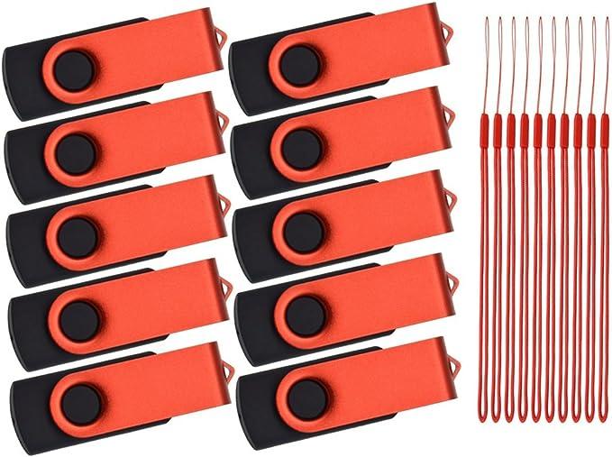 63 opinioni per Pendrive 10 Pezzi 8GB Chiavetta USB Girevole Pennetta USB 2.0 Pollice Memoria