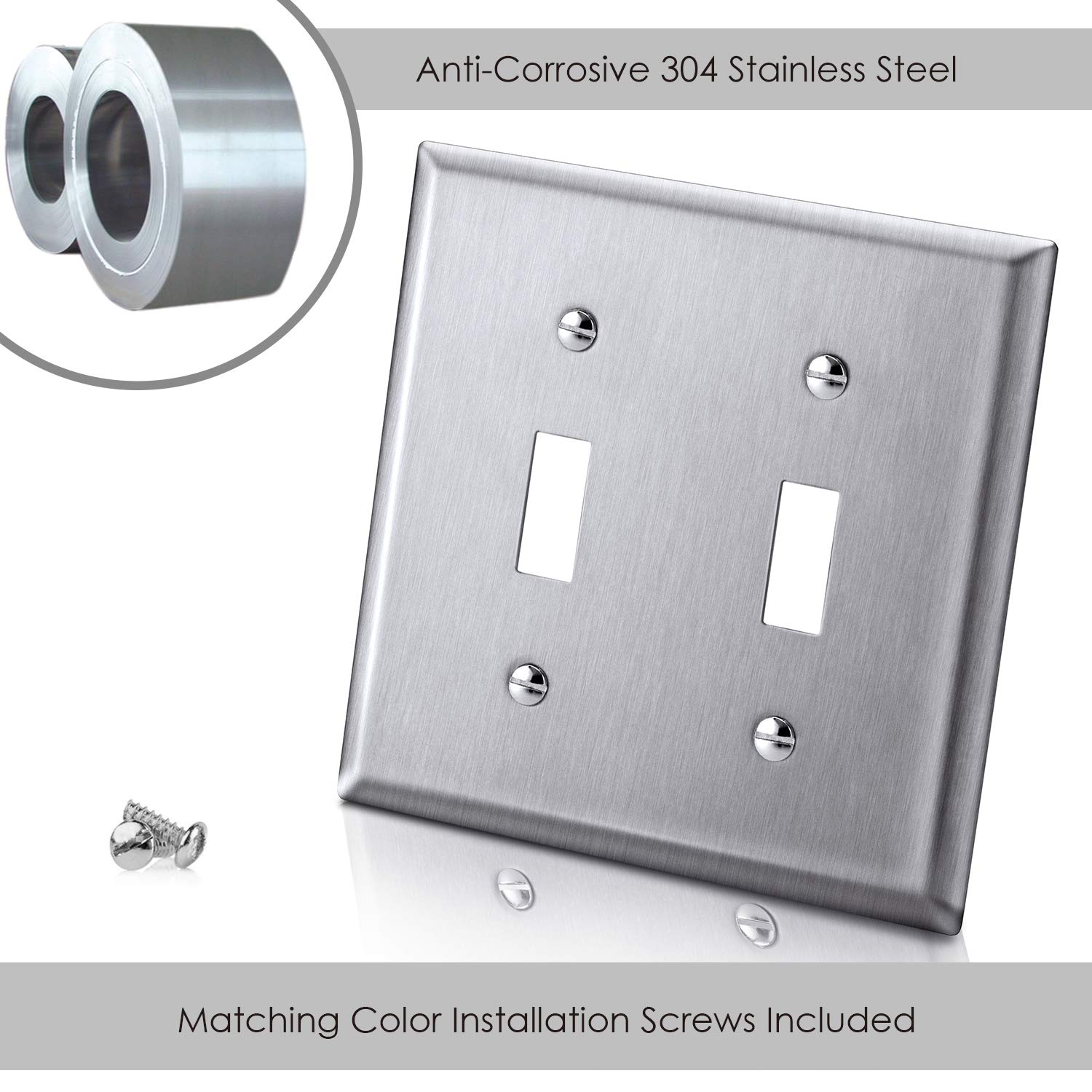 Commercial and Residential Grade 15A 120-277 Volt Toggler Switch 10 Pack White AC Electrical Fan /& Light Wall Switch UL Listed 3-Way Toggle Light Switch by BESTTEN Wall Plates Included