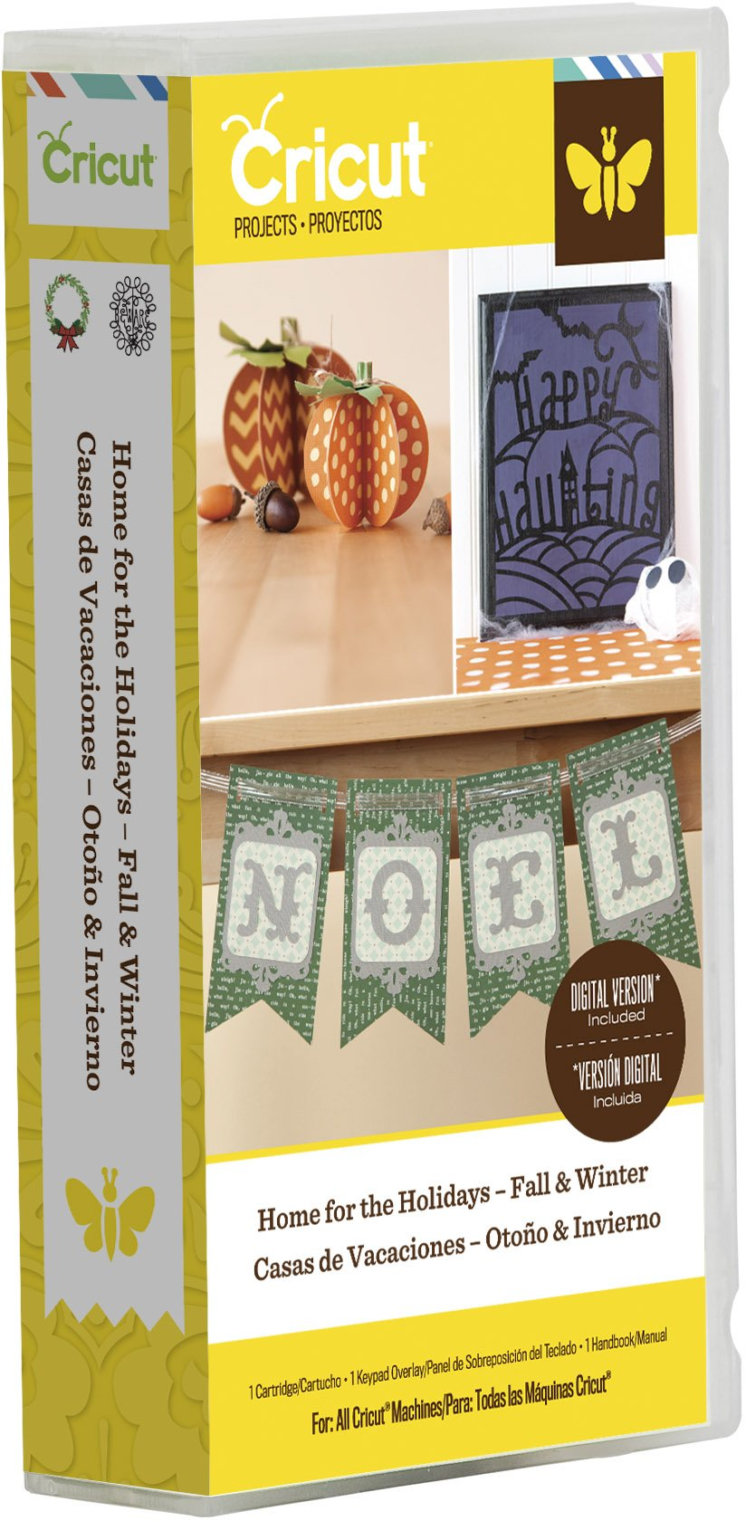 Cricut  Projects Cartridge for Paper Crafting, Home for the Holidays Fall and Winter