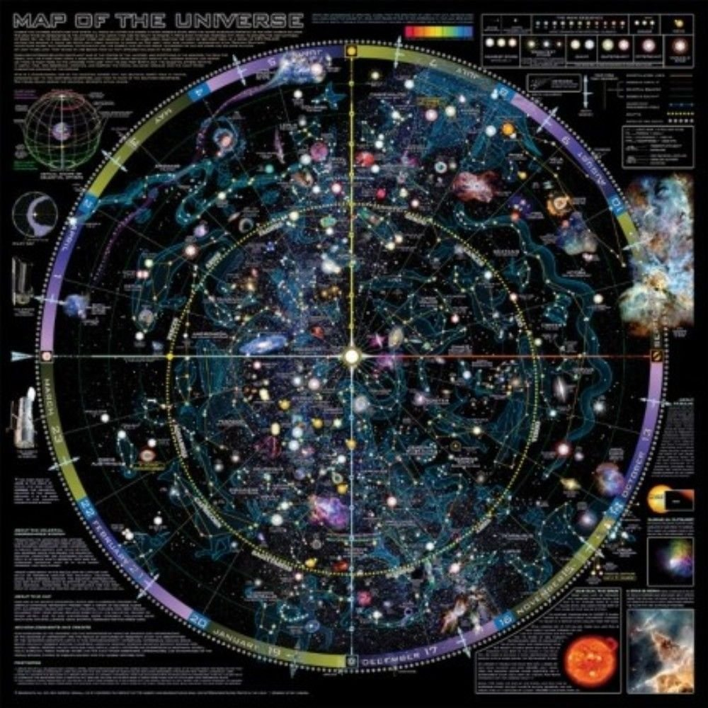 36 X 36 Map Of The Universe Poster