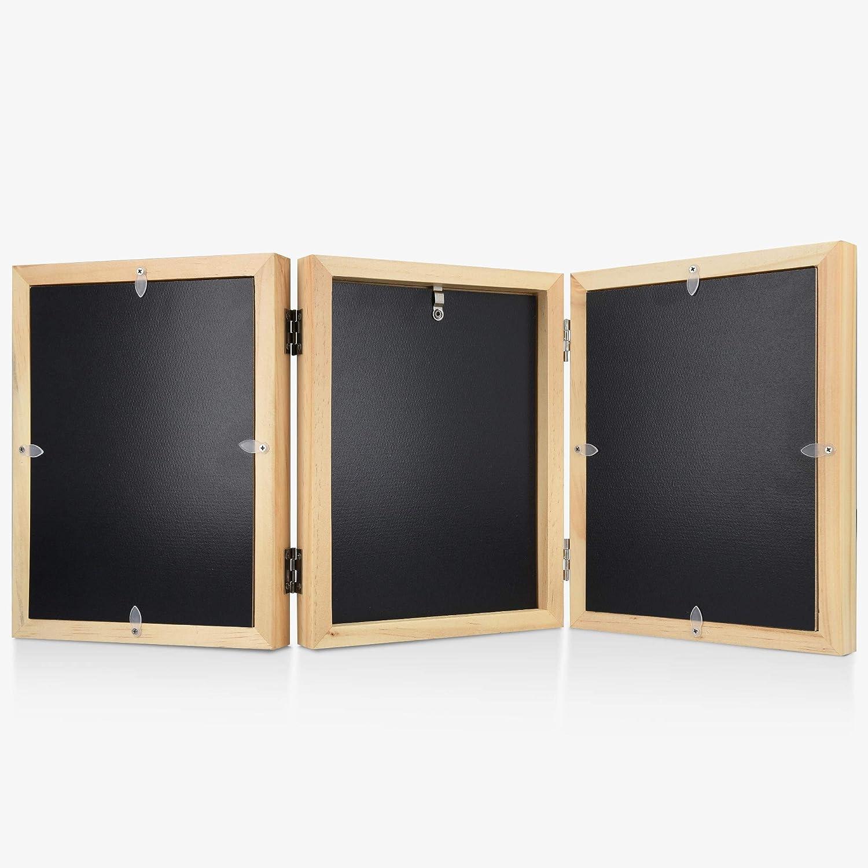 Marco de fotos de madera con arcilla para imprimir huella del pie y mano de reci/én nacido Set 3D para regalo Navaris Kit para huellas de beb/é
