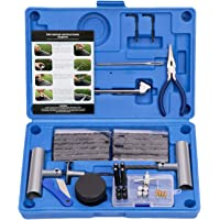 AUTOWN Tire Repair Kit - 67pcs Heavy Duty Tire Repair Tools & Tire Repair Set for Car, Motorcycle, Truck, ATV, Tractor, RV, SUV, Jeep, Trailer, Lawn Mower