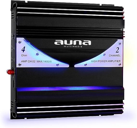 Auna Amp Ch02 Car Hifi Verstärker 2 Kanal Auto Endstufe Elektronik