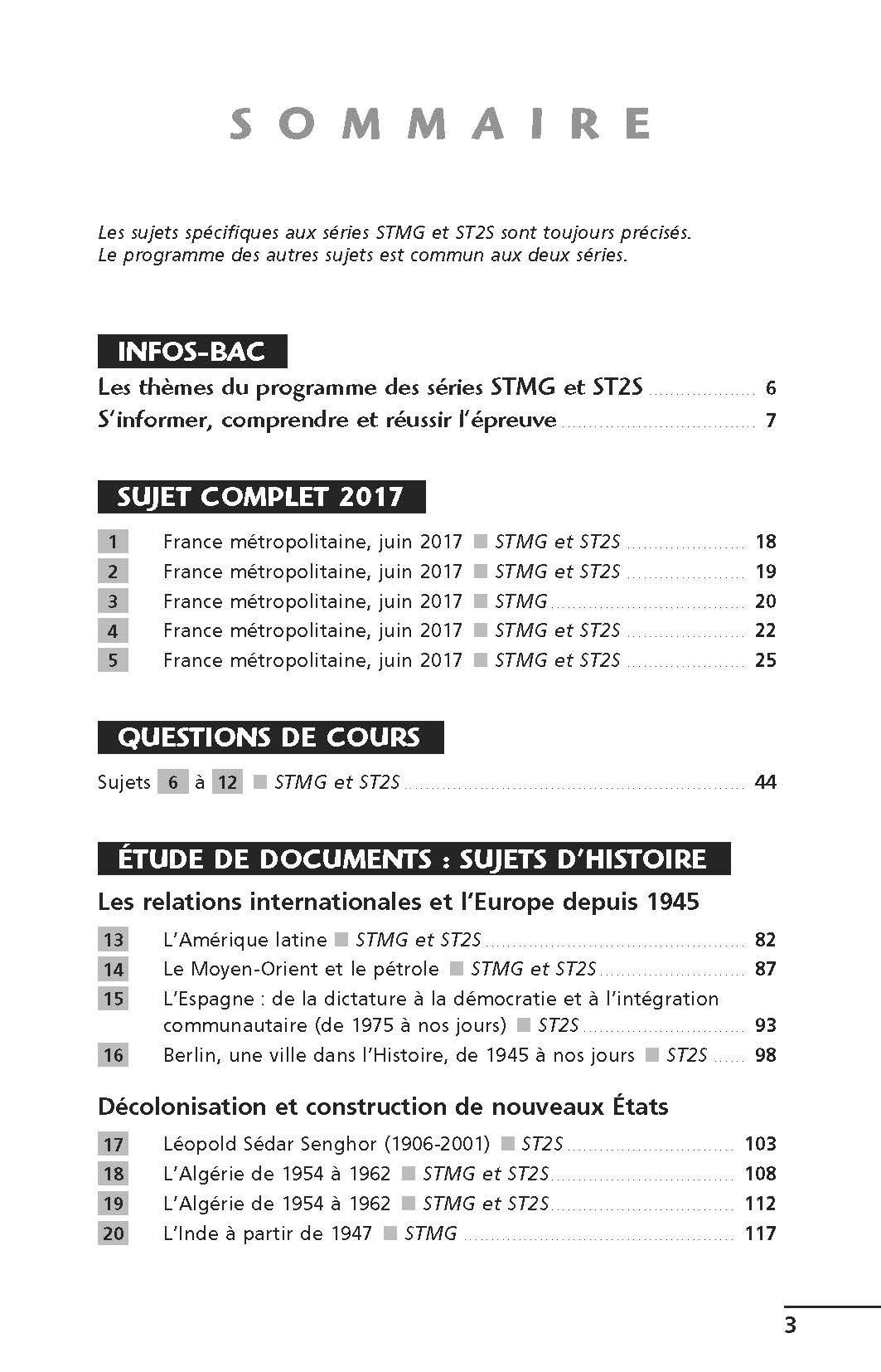 Histoire et géographie Tle STMG-ST2S : Sujets & corrigés Annales ABC du Bac: Amazon.es: Gilles Darier: Libros en idiomas extranjeros