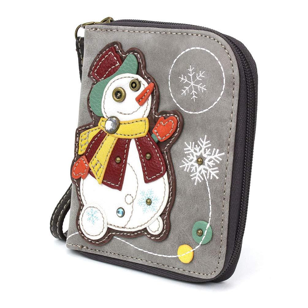 CHALA Handbags- Zip Around Wallet, Wristlet, 8 Credit Card ...